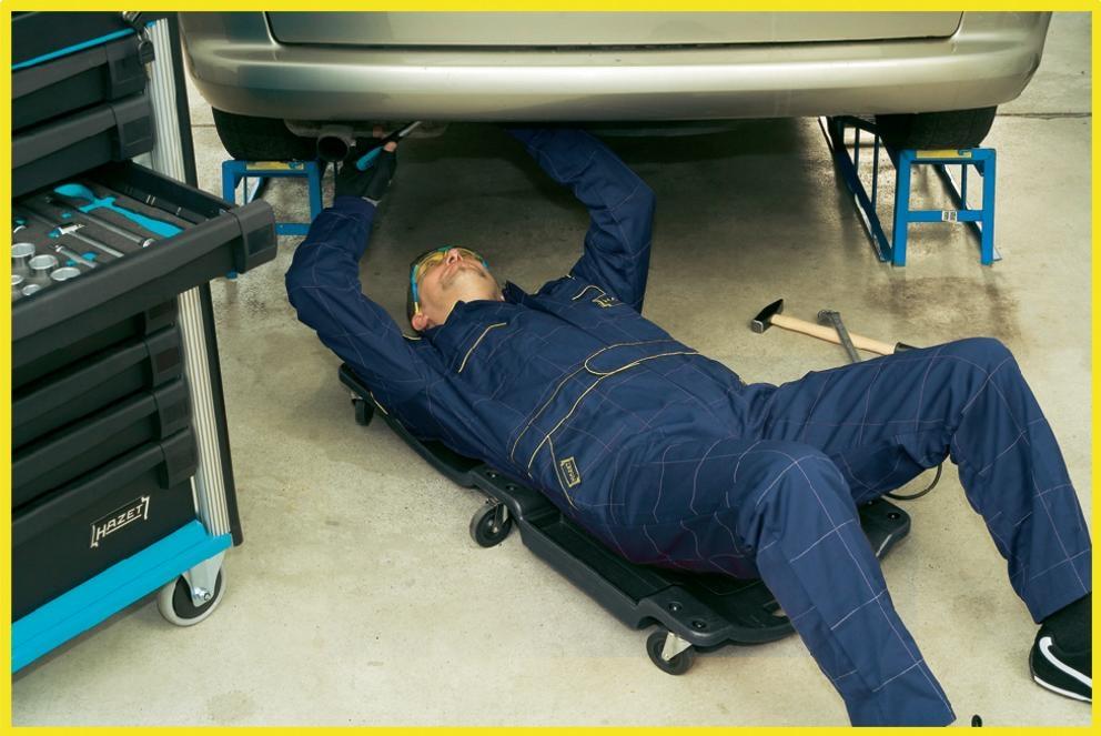 Тележка для ремонта автомобиля лёжа своими руками 68